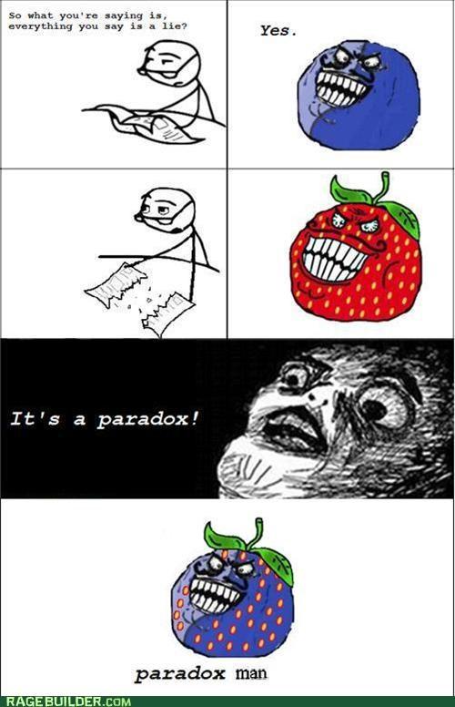 i lied paradox Rage Comics strawberry guy - 5203156224