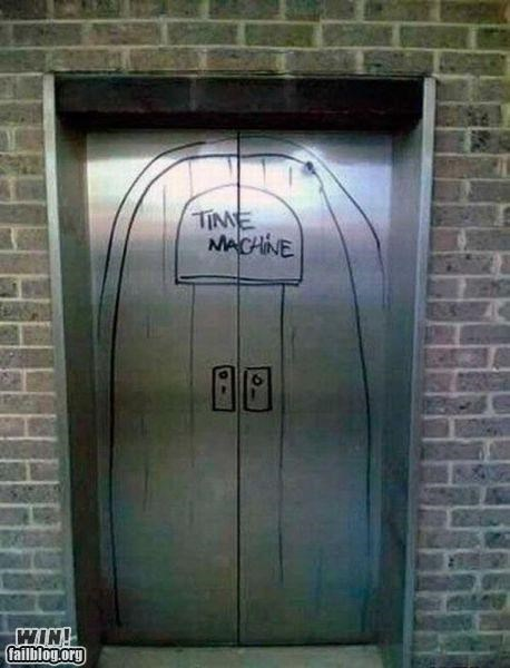 doctor who elevator graffiti hacked irl nerdgasm nerdy tardis time machine time travel - 5203224064