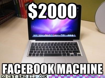 computer emolulz facebook mac book money - 5203296512
