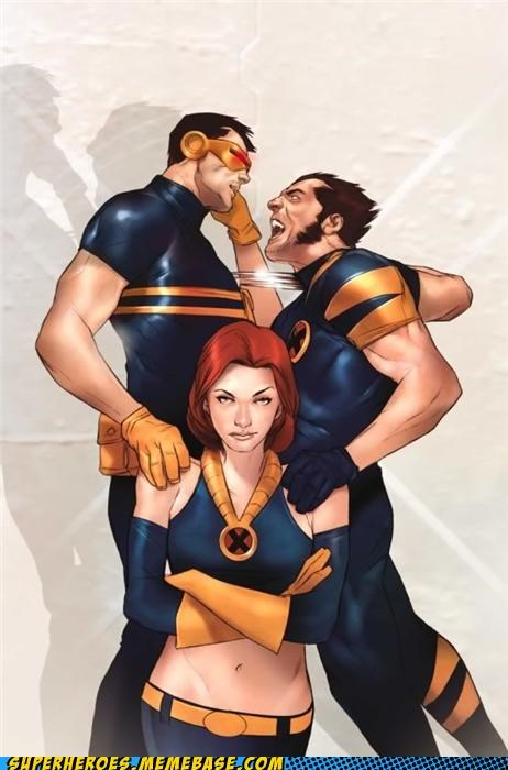 Awesome Art cyclops jean grey wolverine