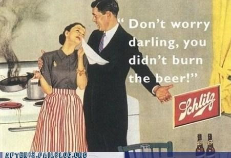 Ad,beer,cooking,darling,kitchen,old timey,schlitz