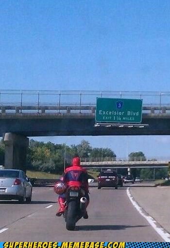 IRL motorcycle Spider-Man Superhero IRL - 5204518144