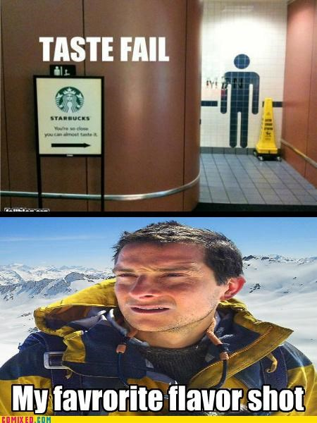 bathroom bear grylls FAIL meme the internets urine - 5204642816