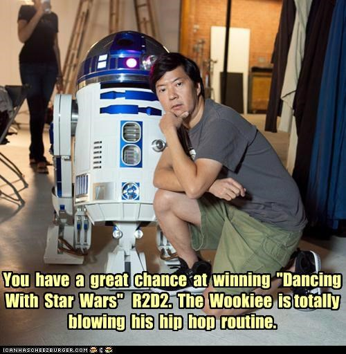competition dancing Dancing With The Stars ken jeong r2-d2 roflrazzi star wars - 5204695808