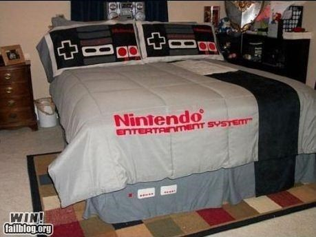 bed,decoration,design,home,nerdgasm,NES,nintendo,video game