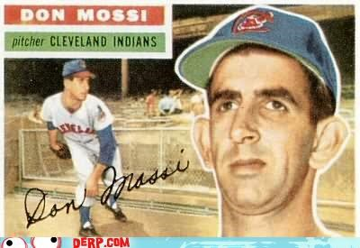 baseball baseball card best of week Cleveland Indians don mossi Sportderps
