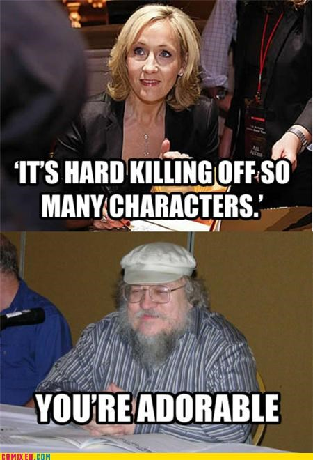 adorable,best of week,george r r martin,j-k-rowling,writers