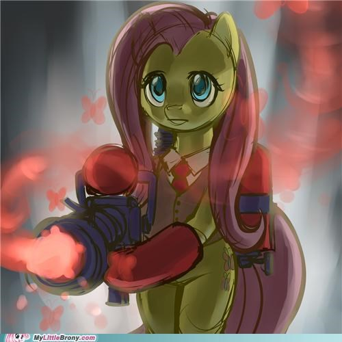 crossover fluttershy heal medic Team Fortress 2 uberyay - 5205372160