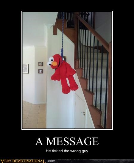 elmo hilarious message tickle