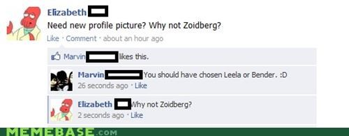 bender,facebook,leela,new,Zoidberg