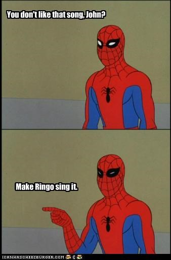 beatles,john lennon,Ringo,Spider-Man,Super-Lols