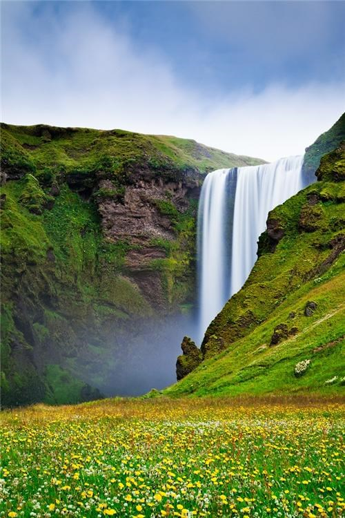 getaways green meadow unknown location user submitted valley vivid colors water waterfall - 5205716992