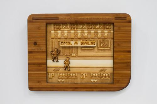 art,double discount,double dragon,Fan Art,video games,wood cut