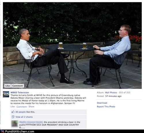 barack obama,beer,facebook,political pictures