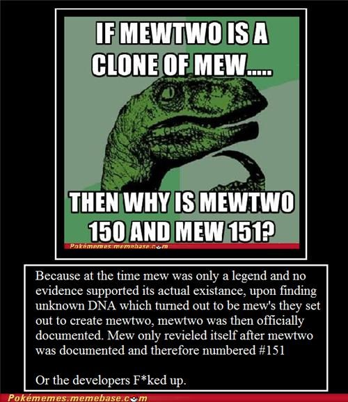 1st gen best of week developers meme Memes mew mewtwo numbers philosoraptor second option - 5205850368