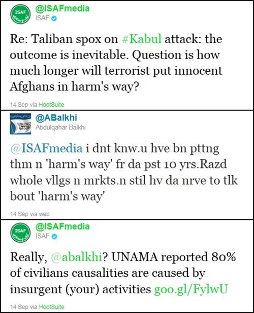 afghanistan,ISAF,modern warfare,taliban,Wartime Tweets