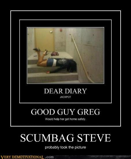 hilarious,lady,passed out,picture,Scumbag Steve