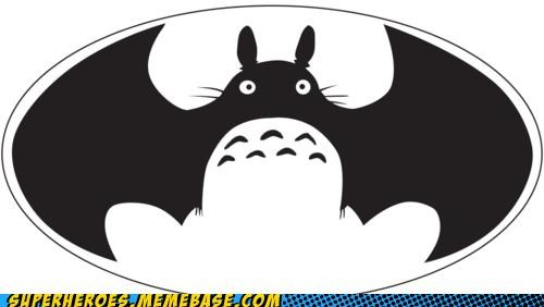 Awesome Art batman symbol totoro wtf - 5205975808