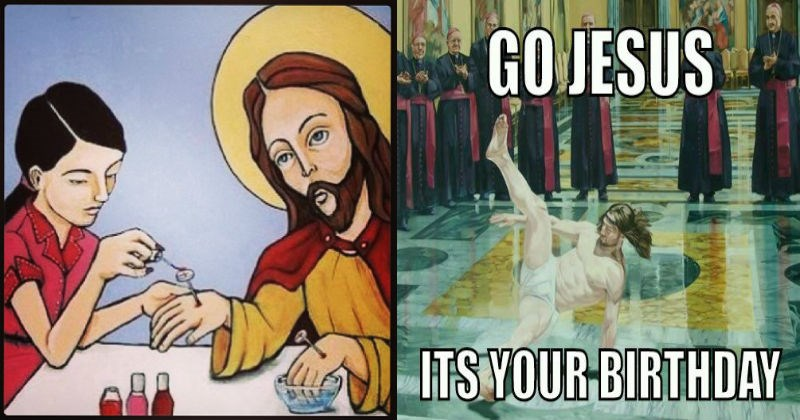 jesus memes, jesus getting his nails done, religion