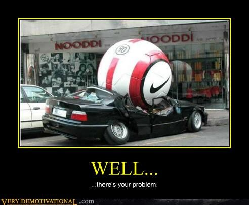 car,hilarious,soccer ball,wtf