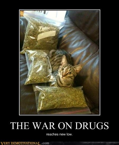 THE WAR ON DRUGS reaches new low.