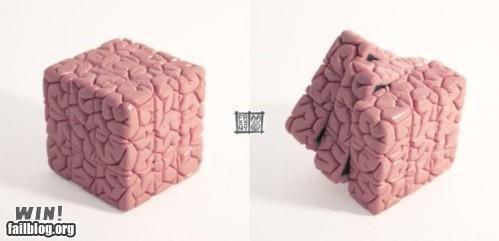 brain brainy cube nerdgasm nerdy puzzle rubiks cube - 5206557952
