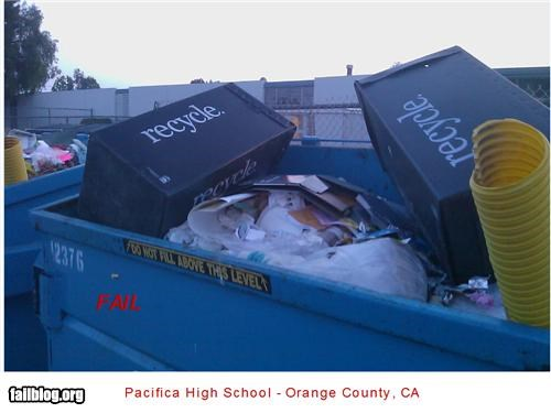 High School Recycle Fail