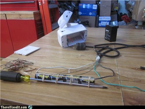 batteries,Mad Science Monday,screwdriver,technology,tools,wtf