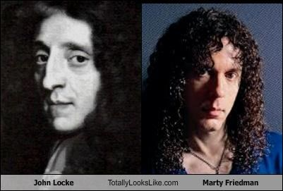curly hair dudes with long hair john locke long hair megadeath metal Music musicians philosopher philosophy political