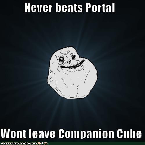 companion cube forever alone friends Portal video games - 5208116992