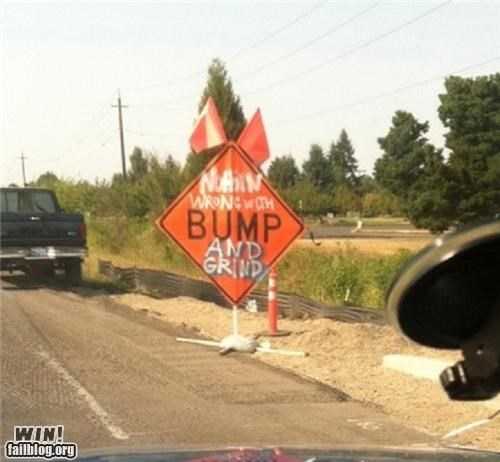 bump,construction,dance,dance floor,hacked irl,sign,warning