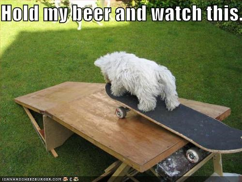 beer,daredevil,drink,drinking,skateboard,skateboarding,trick,Watch This,whatbreed