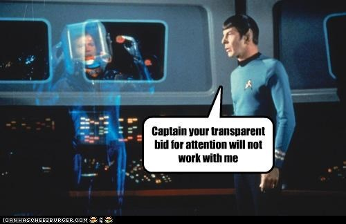 attention,Leonard Nimoy,puns,roflrazzi,Star Trek,transparent,William Shatner