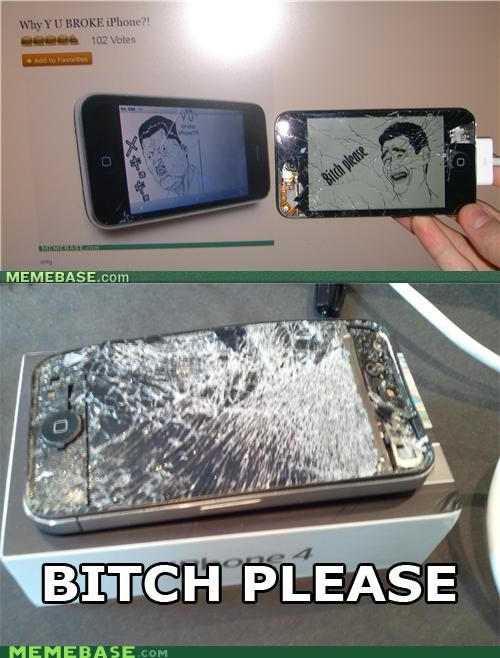broken iphone ipod no way Rage Comics - 5208615936