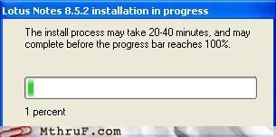 installation installing progress progress bar