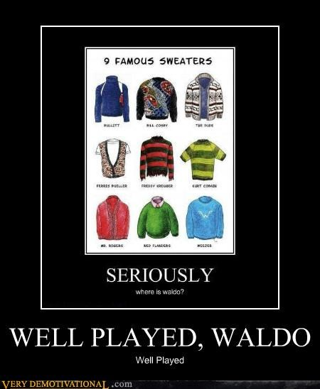 Pure Awesome sweater waldo - 5208851712
