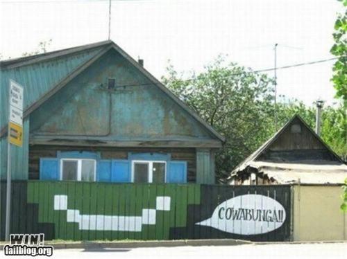 90s cartoons graffiti hacked irl leonardo Street Art TMNT - 5209104640