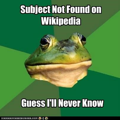 foul bachelor frog knowledge libary card library spelling wikipedia