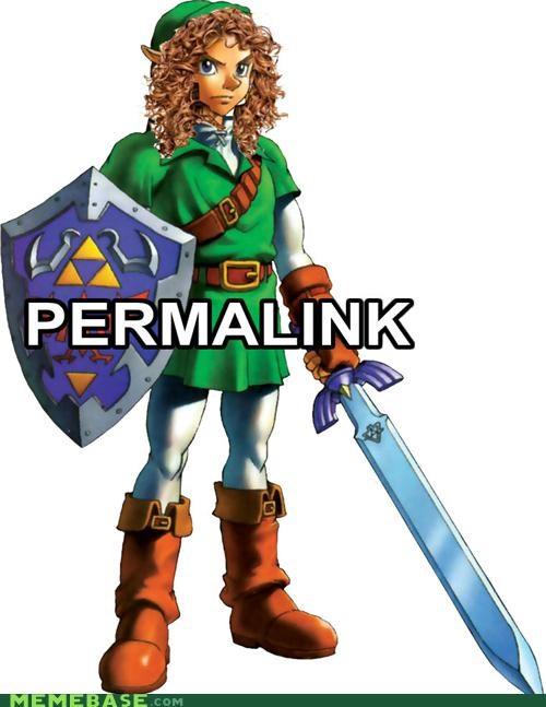 Lame Pun Coon perm video games zelda - 5209235712