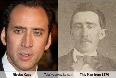 1870 Hall of Fame nicolas cage photograph time traveler vampire vintage wizard - 5209356032