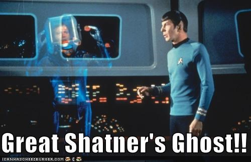 actor celeb funny Leonard Nimoy sci fi Star Trek TV William Shatner - 5209359616
