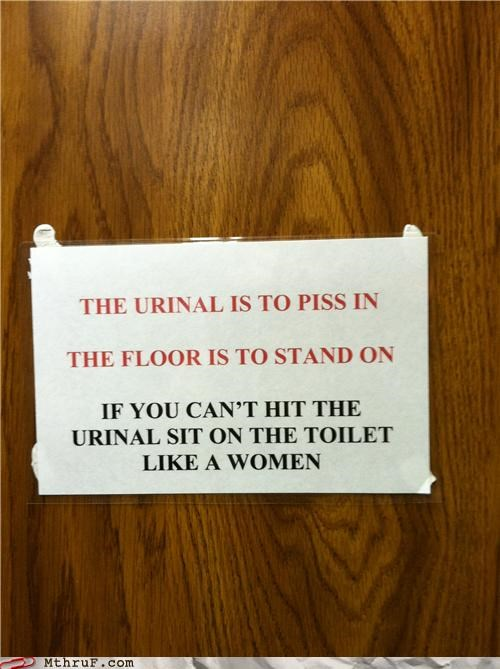 bathroom restroom pee sign urinal women - 5209378560