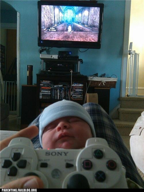 clever,infant,nap time,noob,quality time,video games