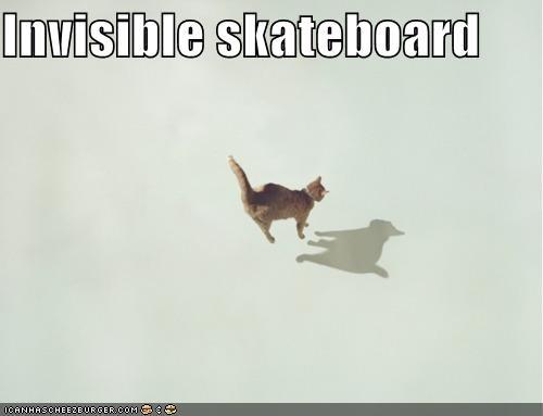 Invisible skateboard