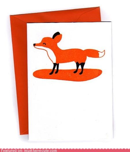 card,fox,notecard,print,stationary