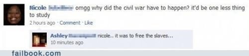Awkward civil war facebook failbook g rated slaves