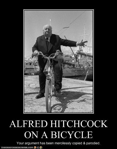 alfred hitchcock,bicycles,copied,directors,historic lols,parody,your argument
