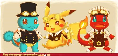 art best of week cute Pokémon starters without bulbasaur Steampunk - 5209595136