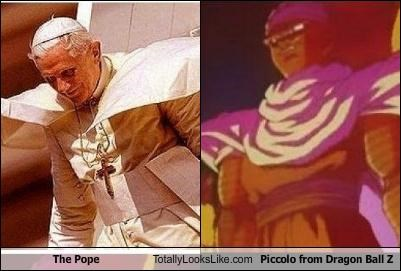 cape cartoons Dragon Ball Z lizard piccolo pope religious