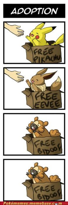 adoption bidoof comic forever alone Okay pikachu Sad - 5209667328